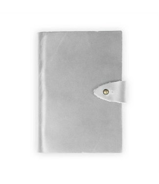 Rustico Trailhead Leather Notebook - Stone/ Stud