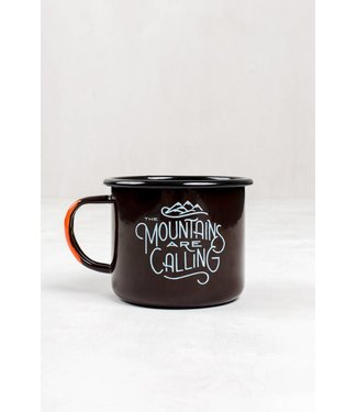United By Blue And I Must Go Enamel Mug - Brown