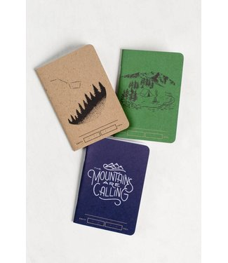United By Blue Adventure Bound Notebooks - Set of Three