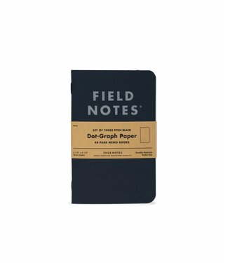 Pitch Black Dot-Graph Memo Book 3-Pack