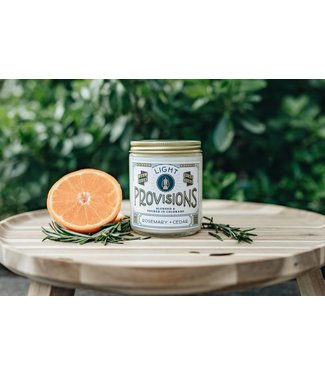 Light Provisions 8 oz Rosemary Cedar Candle