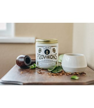 Light Provisions 8 oz Tobacco + Walnut Candle