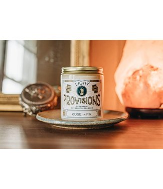 Light Provisions 8 oz Rose + Fir Candle