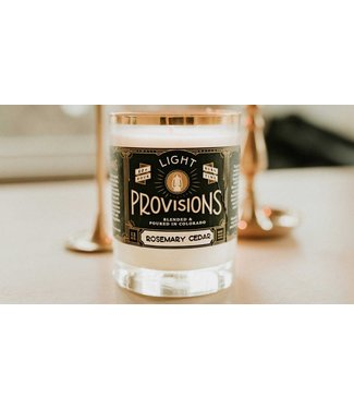 Light Provisions 12 oz Rosemary Cedar Candle