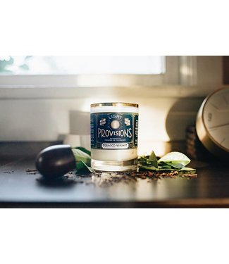 Light Provisions 12 oz Tobacco + Walnut Candle