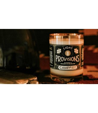 Light Provisions 12 oz Campfire Candle