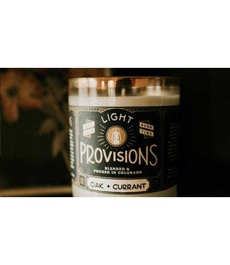 Light Provisions 12 oz Oak + Currant Candle
