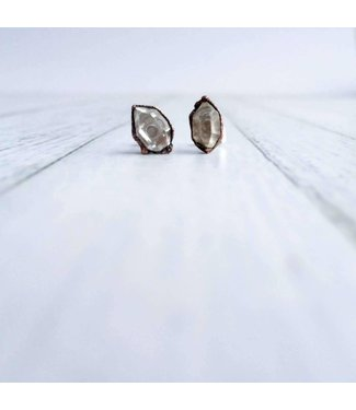 Hawk House Raw Crystal Stud Earrings