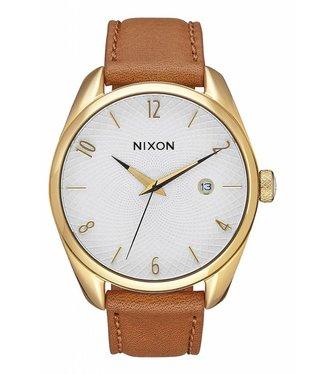 Nixon Bullet Leather - Gold/ Saddle