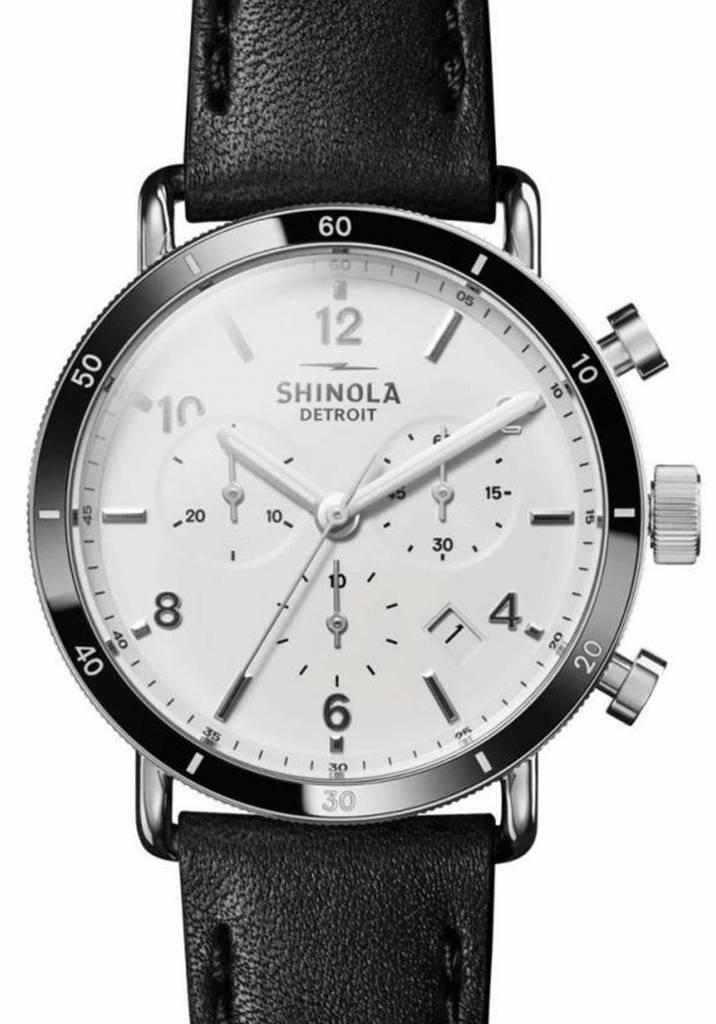 2b681bc4c Shinola | Canfield Sport Chrono 40mm - White - Montana Supply