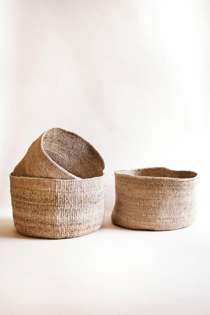 INDEGO AFRICA Indego Africa Banana Leaf Floor Basket