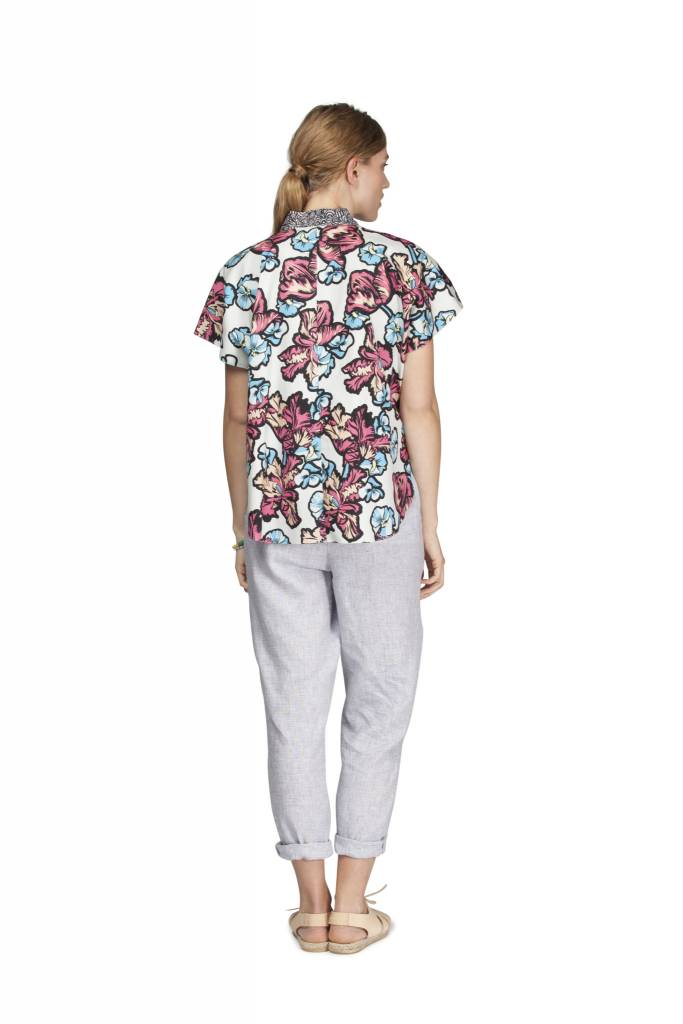 MEGAN PARK Megan Park Patchprint Poplin Top