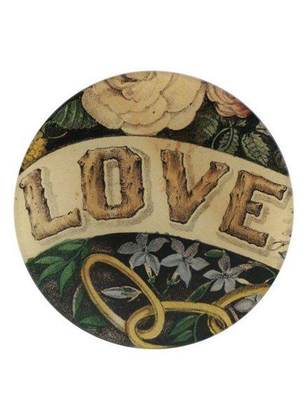 JOHN DERIAN John Derian Love Round Plate