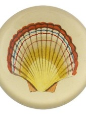 JOHN DERIAN John Derian Red Tipped Scallop Dome Paperweight