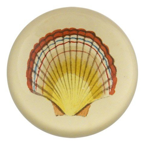 JOHN DERIAN John Derian Red Tipped Scallop Dome Paperweight