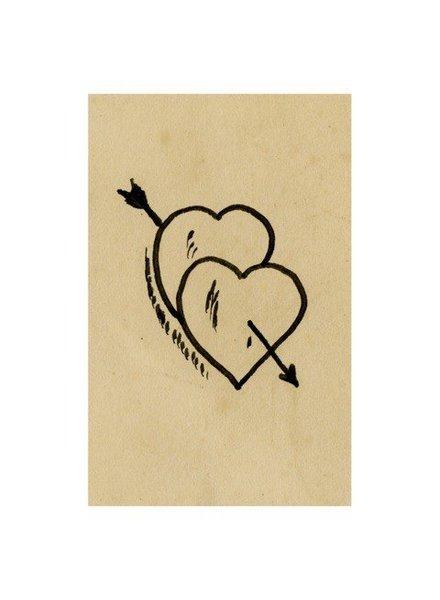 JOHN DERIAN John Derian Romantic Doodle Postcard