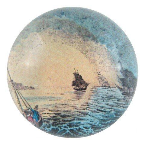 JOHN DERIAN John Derian Sailing Away Dome Paperweight
