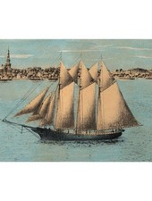 JOHN DERIAN John Derian Ship in Bay Postcard