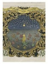 JOHN DERIAN John Derian Starfish at Night Card w/ Envelope