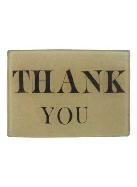 JOHN DERIAN John Derian Thank You Tiny Rect. Tray