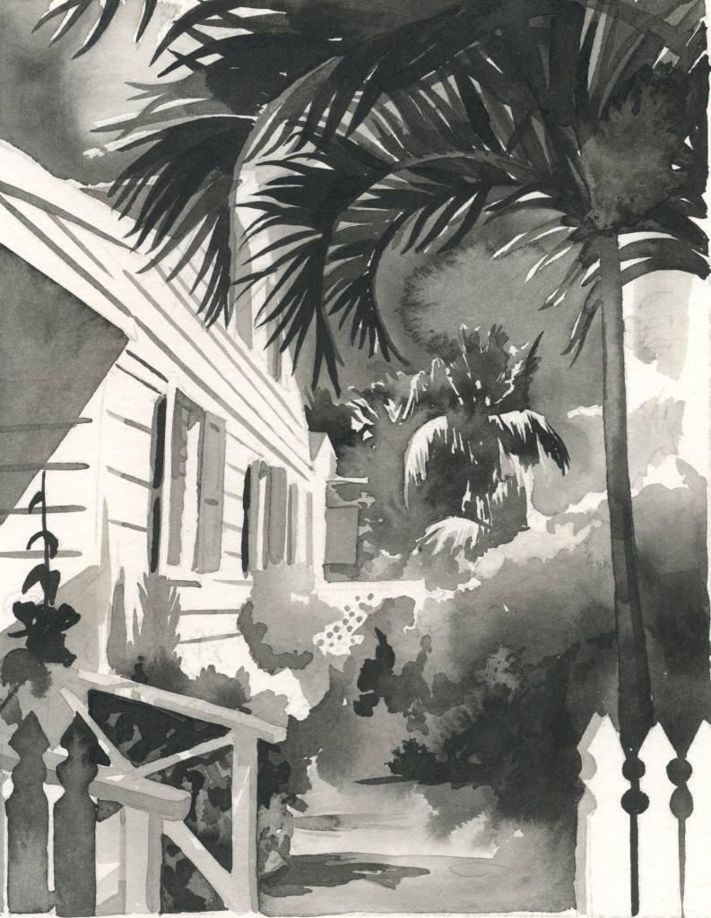 CHRISSHARP Chris Sharp Original Watercolor #1