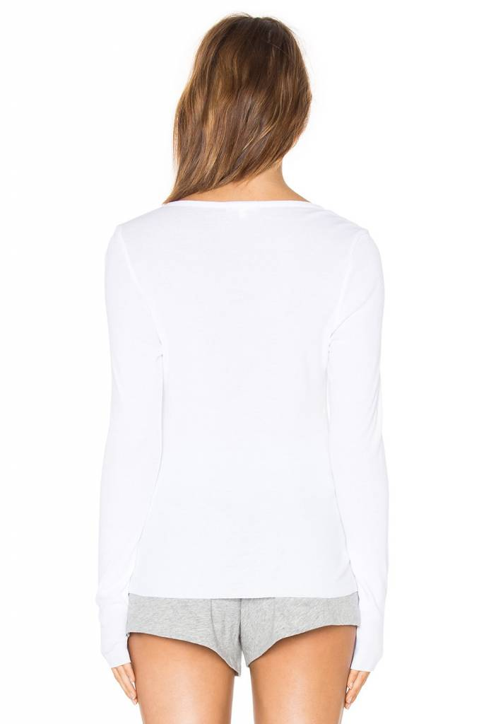 SKIN OPERATING LLC Skin Worldwide Long Sleeve Rib Henley