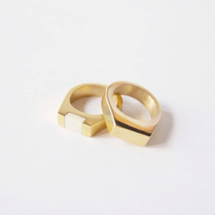 MEYELO Meyelo Mari Ring Bone Inlay