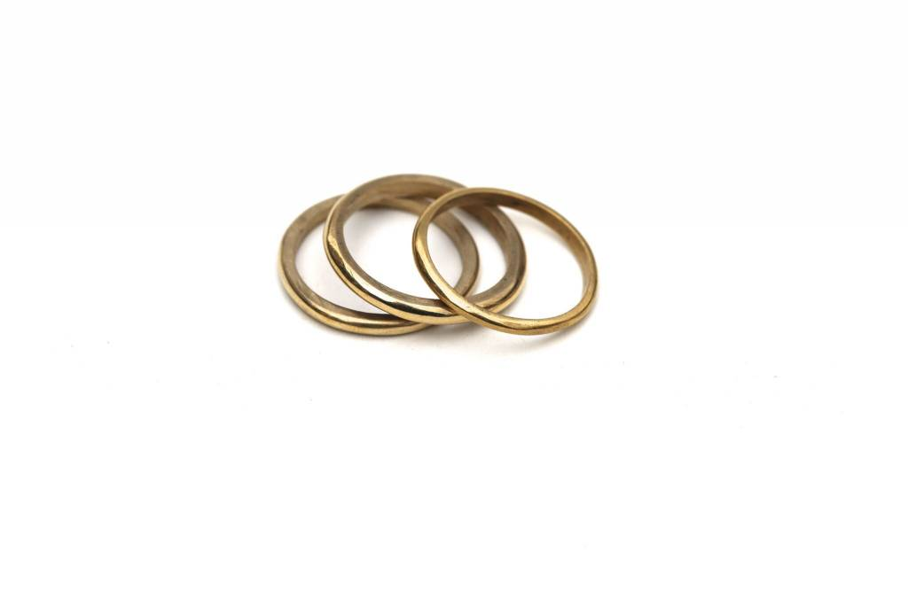 MEYELO Meyelo Unga Stack Rings  (Set of 3)