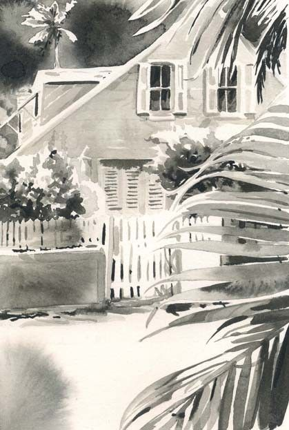 CHRISSHARP Chris Sharp Original Watercolor #15