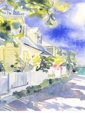 CHRISSHARP Chris Sharp Original Watercolor #16