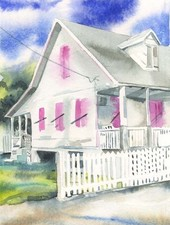 CHRISSHARP Chris Sharp Original Watercolor #18