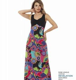LUC FONTAINE Robe Maxi multicolore REVELATION