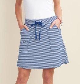HATLEY Jupe rayée bleu et blanc