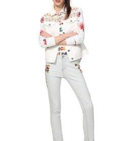 DESIGUAL Veste de jeans brodée