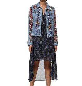 DESIGUAL Veste de jeans patchwork