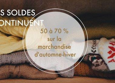 SOLDES 50 %