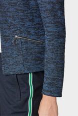 TOM TAILOR Veston bleu chiné miniboucles