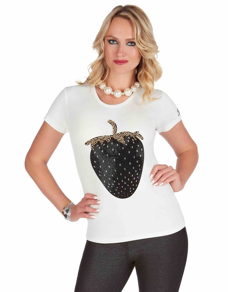 MODE TRICOTTO Tee-shirt Fraise