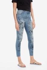 DESIGUAL Jeans à fleurs