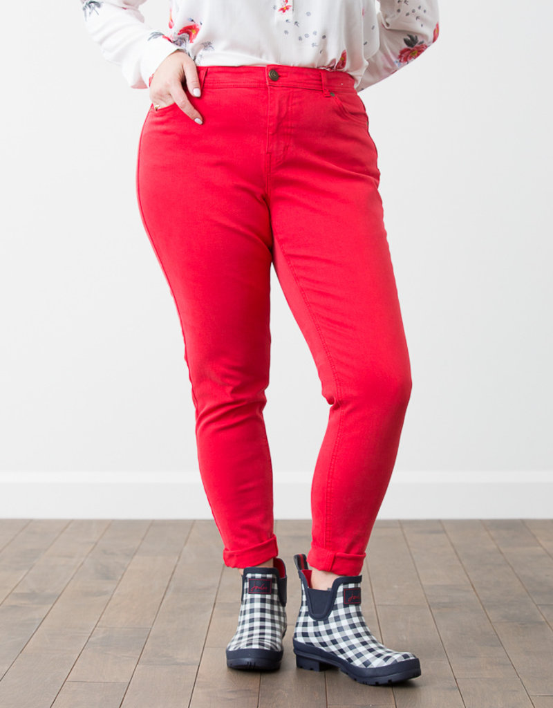 Jeans skinny corail