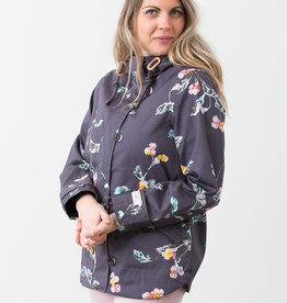 Manteau imperméable à fleurs