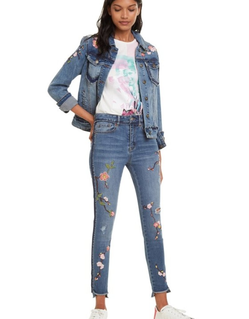 DESIGUAL Jeans brodé