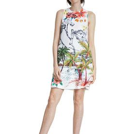 DESIGUAL Robe tropicale