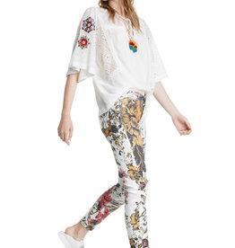 DESIGUAL Pantalon fleurs