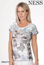 NESS Tee-shirt à fleurs