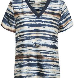 KAFFE Tee-shirt lignes horizontales
