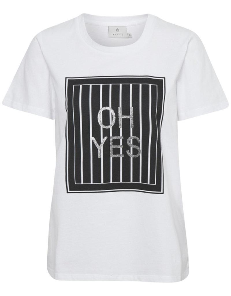 KAFFE Tee-shirt OH YES