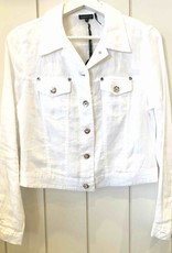 MODE TRICOTTO Veste lin blanche  coupe jeans