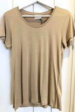 KAFFE Tee-shirt tan
