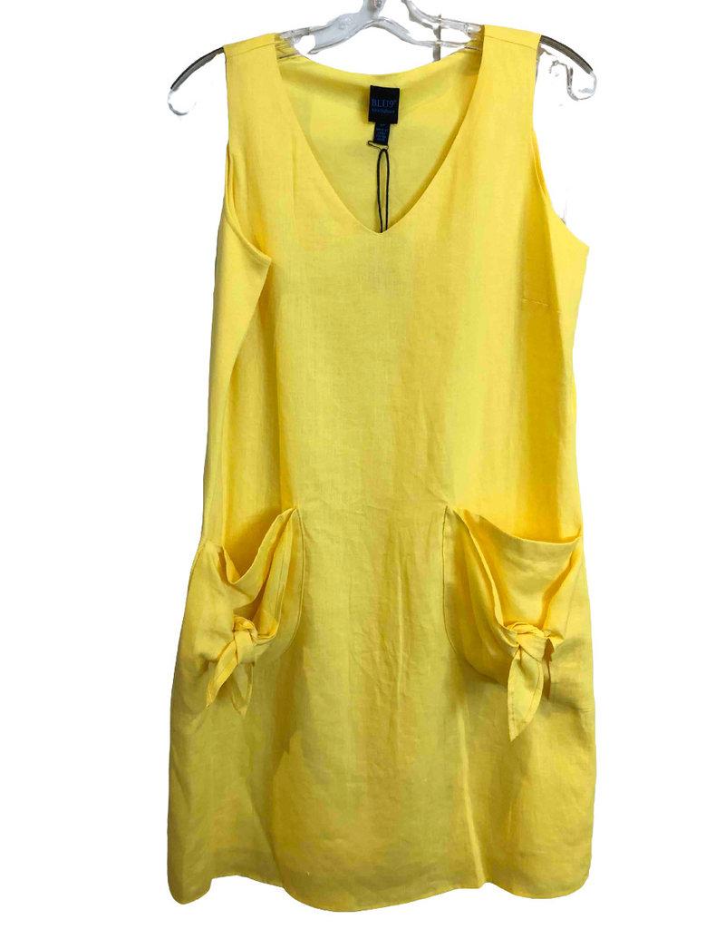 BLU NO 9 Robe de lin sans manches